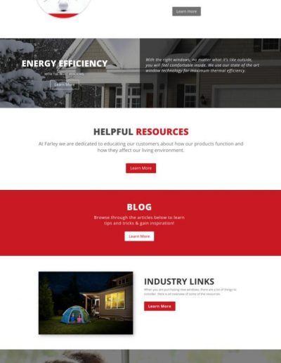 Farley Windows - 2 - Digital Giants - Website Design Portfolio
